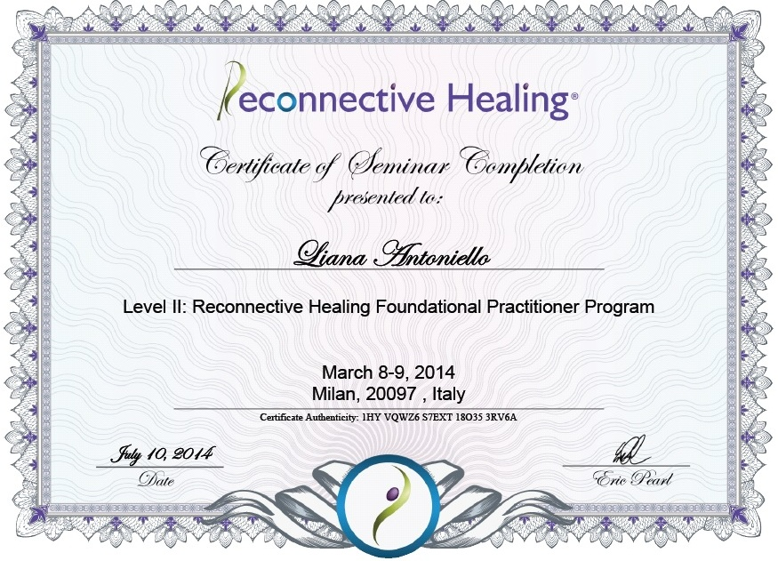 Riconnessione Roma - reconnective healing pratictioner